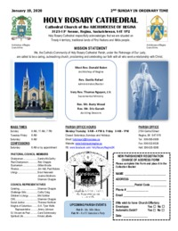 Holy Rosary Bulletin 1-19-2020